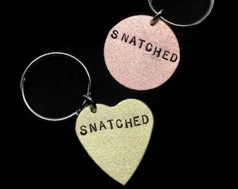 SNATCHED, Fitness Jewelry, New Year Goals, Bad Bitch, Fitness Gifts, Heart Keychain, Snatched Body, Like a Boss, Custom Keychain, Bad Ass,