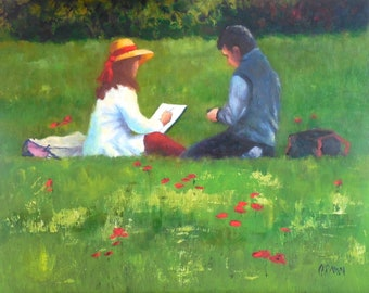 The Garden, 11x14 Original Oil Painting