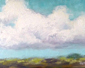 All About the Clouds, Oil Painting, 9x6 inches, on Canvas Panel