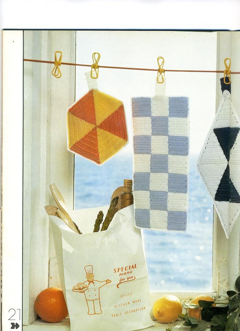 Pot Holder Jamboree Vintage Crochet Potholder Patterns From Etsy