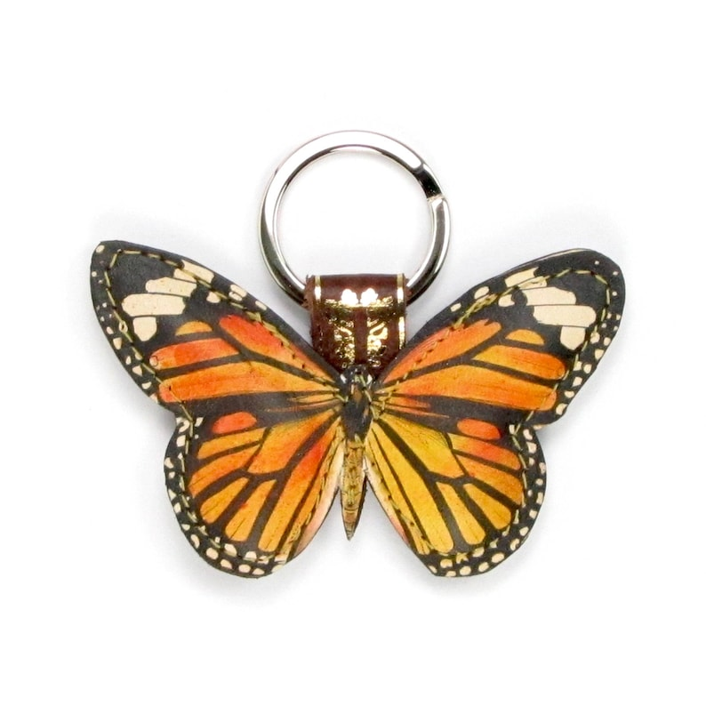 Leather butterfly keychain butterfly keyring butterfly bag charm  bc3a89456012