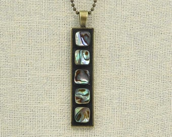 Abalone Shell Pendant Necklace