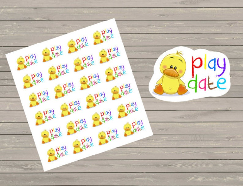 Play Date Stickers Fits Erin Condren Planner Stickers Play image 0