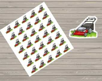Grass Cutting Planner Stickers Lawn Mowing Stickers Chore Stickers Lawn Stickers Reminder Stickers To Do Stickers Functional Stickers