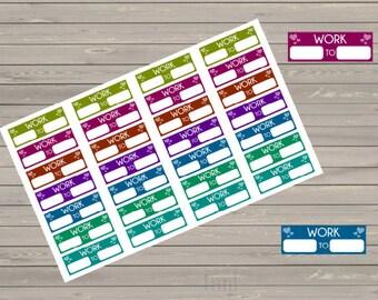 Planner Stickers, Work Hours Planner Stickers, Work Stickers, Fits Erin Condren Planner, Stickers, Reminder Stickers