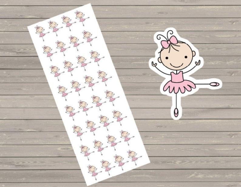 Planner Stickers 32 Ballerina Stickers Plum Paper image 0