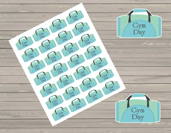 Planner Stickers Gym Stickers Workout Stickers Exercise Etsy