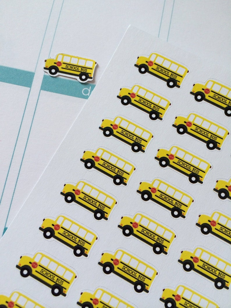 Planner Stickers 32 Buses Day Planner Stickers Fits Erin image 0
