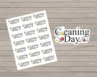 Planner Stickers Cleaning Planner Stickers Perfect Fit For The Erin Condren Planner Stickers Cleaning Day Stickers Chore Stickers