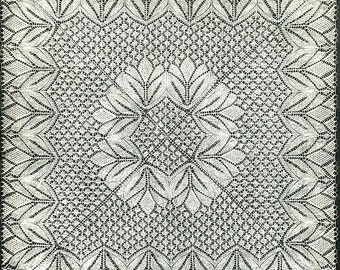 INSTANT DOWNLOAD-Vintage Baby Shawl knitting pattern-pdf -intricate christening shawl