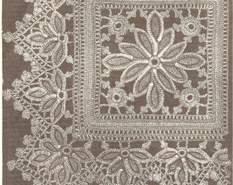 Instant Download-Vintage very old crochet pattern for square and border for quilts, shawls, afgans etc pdf