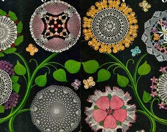 How to make vintage crochet doilies, bouquet flower doilies, crochet patterns etc pdf instant download