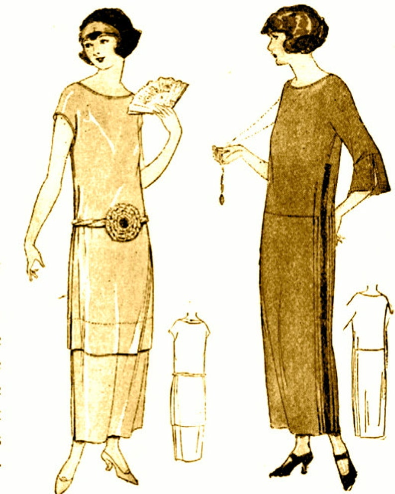 1920s Patterns – Vintage, Reproduction Sewing Patterns Vintage 1920s Downton Abbey flapper dress sewing instructions pattern- very easy make - PDFINSTANT DOWNLOAD-Vintage 1920s Downton Abbey flapper dress sewing instructions 'pattern'- very easy make - PDF $2.34 AT vintagedancer.com