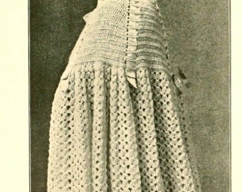 Instant download pdf-Vintage edwardian Titanic era long cloak- crochet pattern