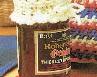 How to make lace crochet jar lid covers Vintage crochet pattern instant download-pdf