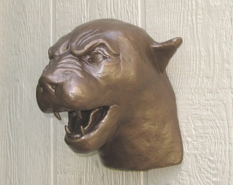 Growling Panther/Cougar Mascot Head Wall Mount