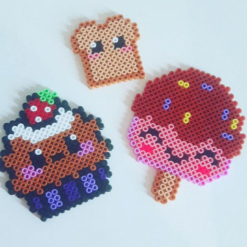 Kawaii Food Magnet Au Choix Perler Beads Perles Hama