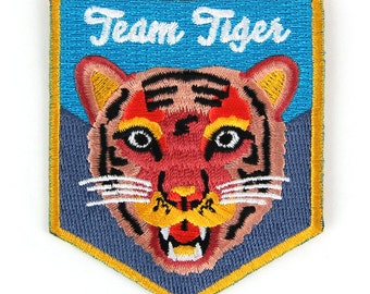Team Tiger Iron On Patch