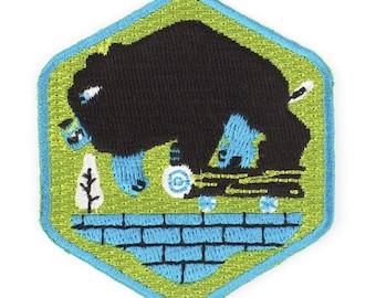 Rad Bear Iron On Patch