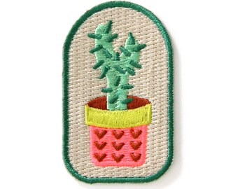 Cactus Plant Iron On Patch