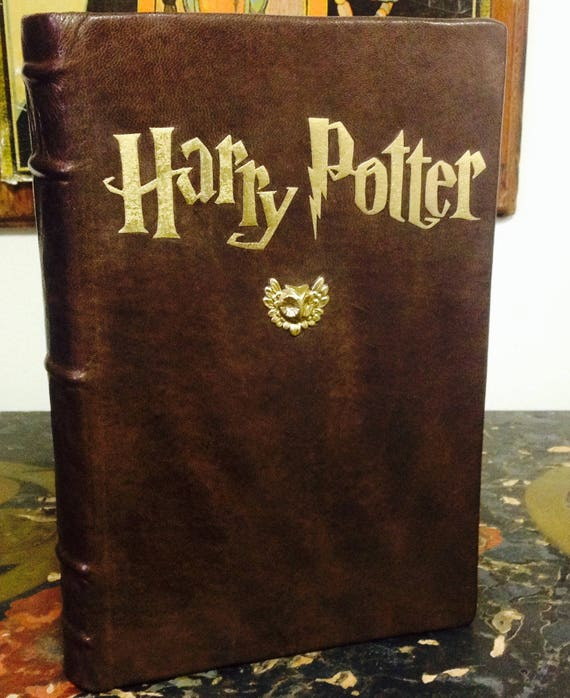 Made To Order Custom Leather Bound Harry Potter And The