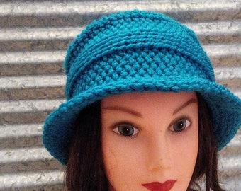 PDF Only--Nostalgic Flair Crocheted Brim Hat Pattern