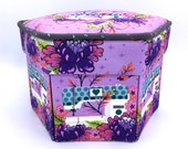 Tula Pink Homemade, Fabric Covered Sewing Box, Pedal to the Metal, Needlework Kit, Etui, Gift for Quilters, Needlework Box, Hexagon Box