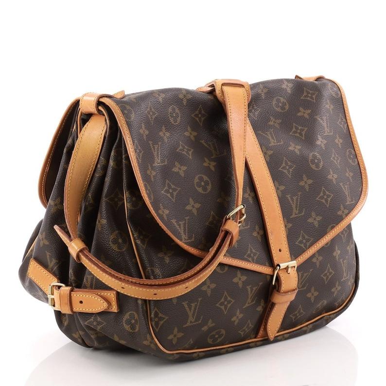 be8611948fca Louis Vuitton Vintage Authentic Monogram Saumur 35 GM Postal