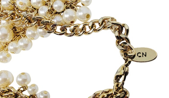 Vintage Arnold Scaasi Cascading Pearl Necklace - image 8