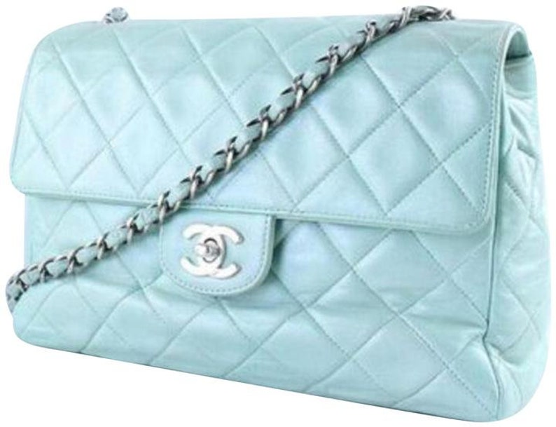 77d98e332899 On Sale Vintage Chanel Pastel Mint Green Lambskin Single