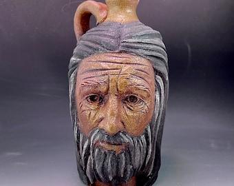 Small bearded face jug
