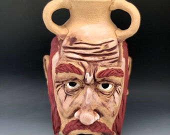 Red headed Dwarf Dice Tower Face Jug