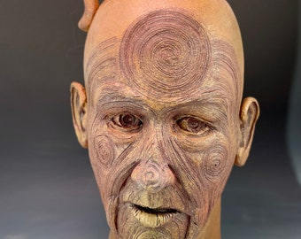 Spiral face jug