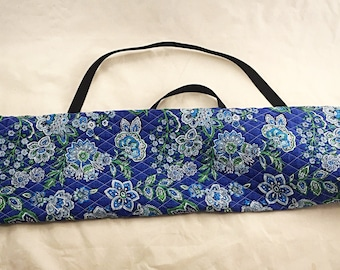 Yarn Swift Carrying Bag - Blue/Green Flower Print