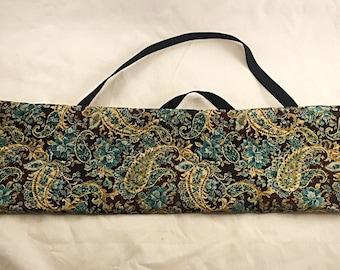 Yarn Swift Carrying Bag - Blue/Green Print