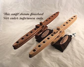 DIY unfinished Sapele Yarn swift - Skein Winder