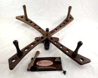 Windmill style - American Walnut Yarn swift - Skein Winder