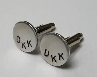 Initials Cuff Links / Personalized Cuff Links / Custom Cuff Links / Wedding / Groomsman Groom / Gift for Him / Dad / Anniversary