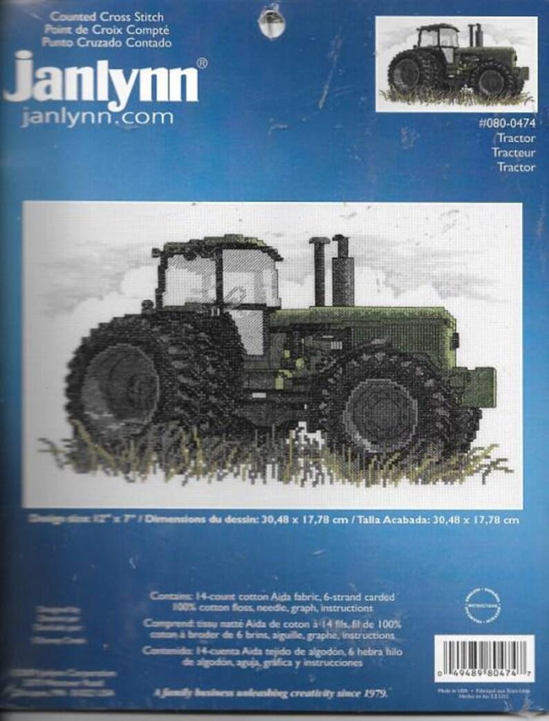 Block Tractor Janlynn 021-1476 Stamped Cross Stitch Quilt