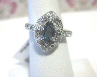 Sweet Blue Topaz Ring sz 8