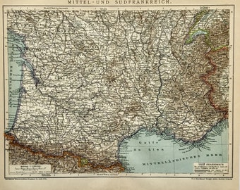 Map France 987.Loire Map Etsy