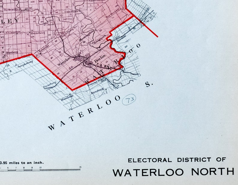 Waterloo Canada Map on
