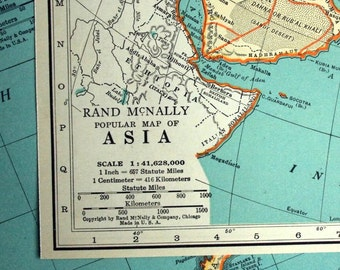 1937 Vintage Map of Asia - Vintage Asia Map