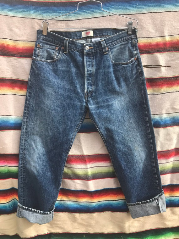 Eighties 1980s Levi Strauss Levi 501 Jeans 36 x 30