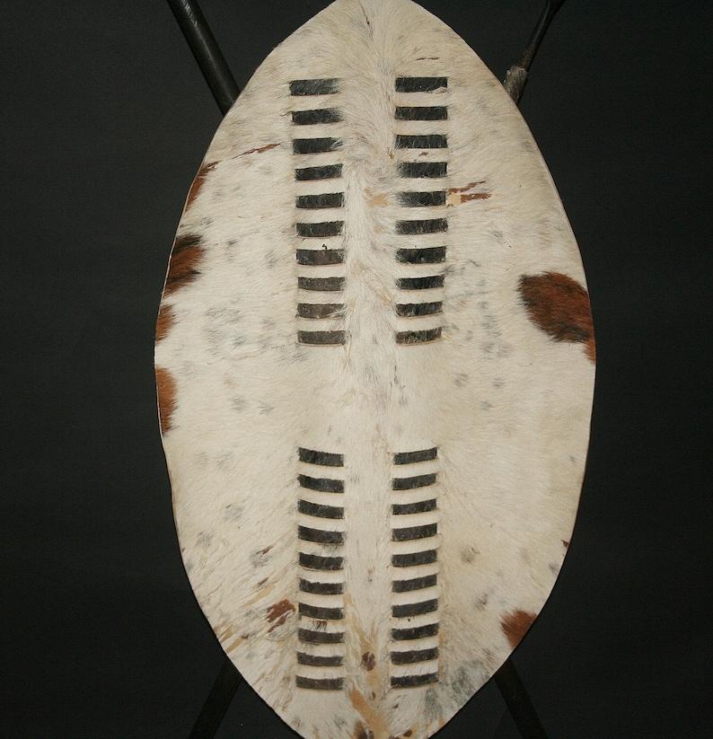 8dc67758b Shield African Zulu Shield Spear and Club Knob-Kerrie Vintage | Etsy