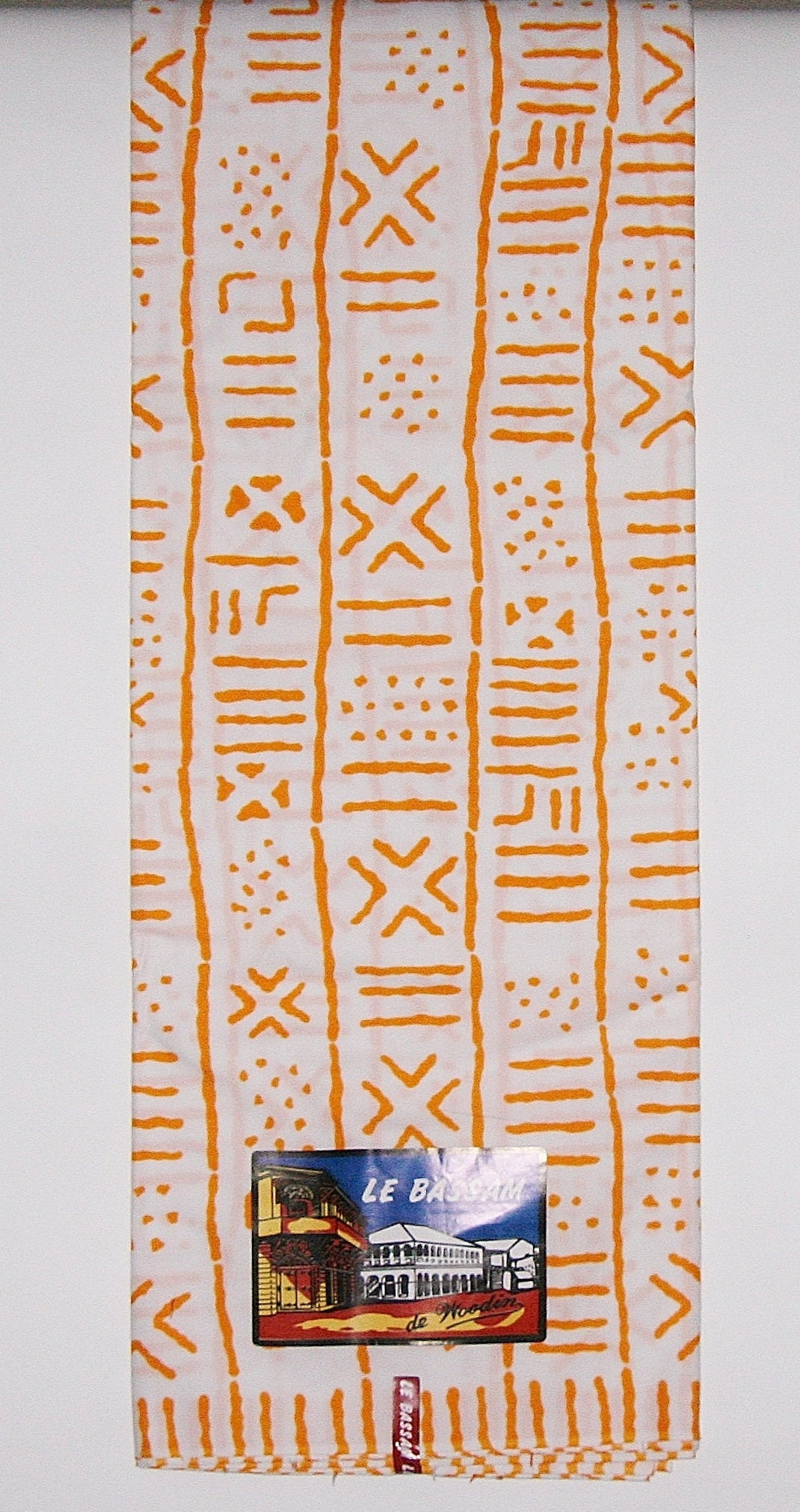 Africain Africain Africain tissu 6 Yards Blanc Orange Le Bassam de Woodin classique Vlisco classique africain Ankara Côte d'Ivoire fc4fce