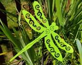 Dragonfly Garden Stake - Painted - Yard Art - Garden Art - Dragonfly - 26 inch Stake