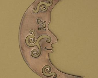 Celestial Moon Steel Garden Stake
