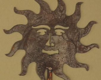 Celestial Sun Steel Garden Stake