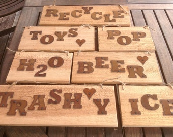 Metal Letter - Rustic - ORDER as many letters as you need - 2 inch - 6 inch